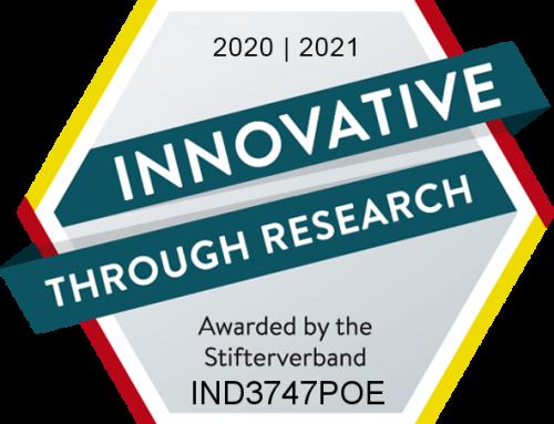 'Innovative through Research' award 2020/2021
